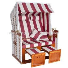 настиленный крышу стул пляжа wicker