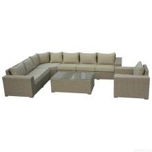 Outdoor-Wicker Lounge Schnitt Sofa Set Rattan Gartenmöbel