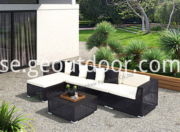 PE wicker aluminium sofa set