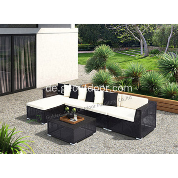PE Rattan Sofa L Form Sofa Set