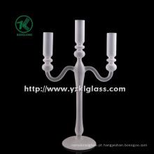 Branco castiçal de vidro para decoração de casa by BV