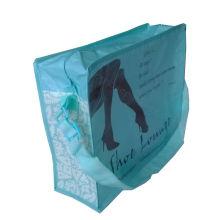 reusable non woven laminated shoulder bag with zipper