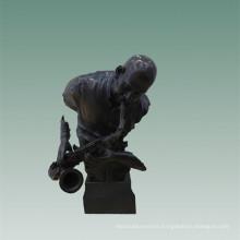 Busts Brass Statue Saxophone Man Decor Bronze Sculpture Tpy-485