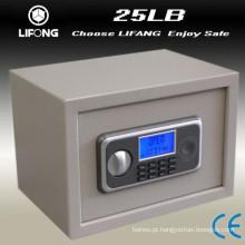 Pequeno LCD depósito segurança seguro segura caixa de aço