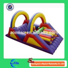 Kids mimi curso de obstáculo inflável curso de obstáculo inflável simples para criança