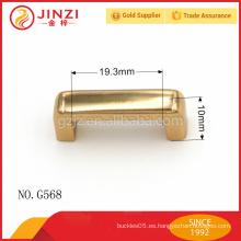 Accesorio vendedor caliente del metal del rectángulo del oro del chapado