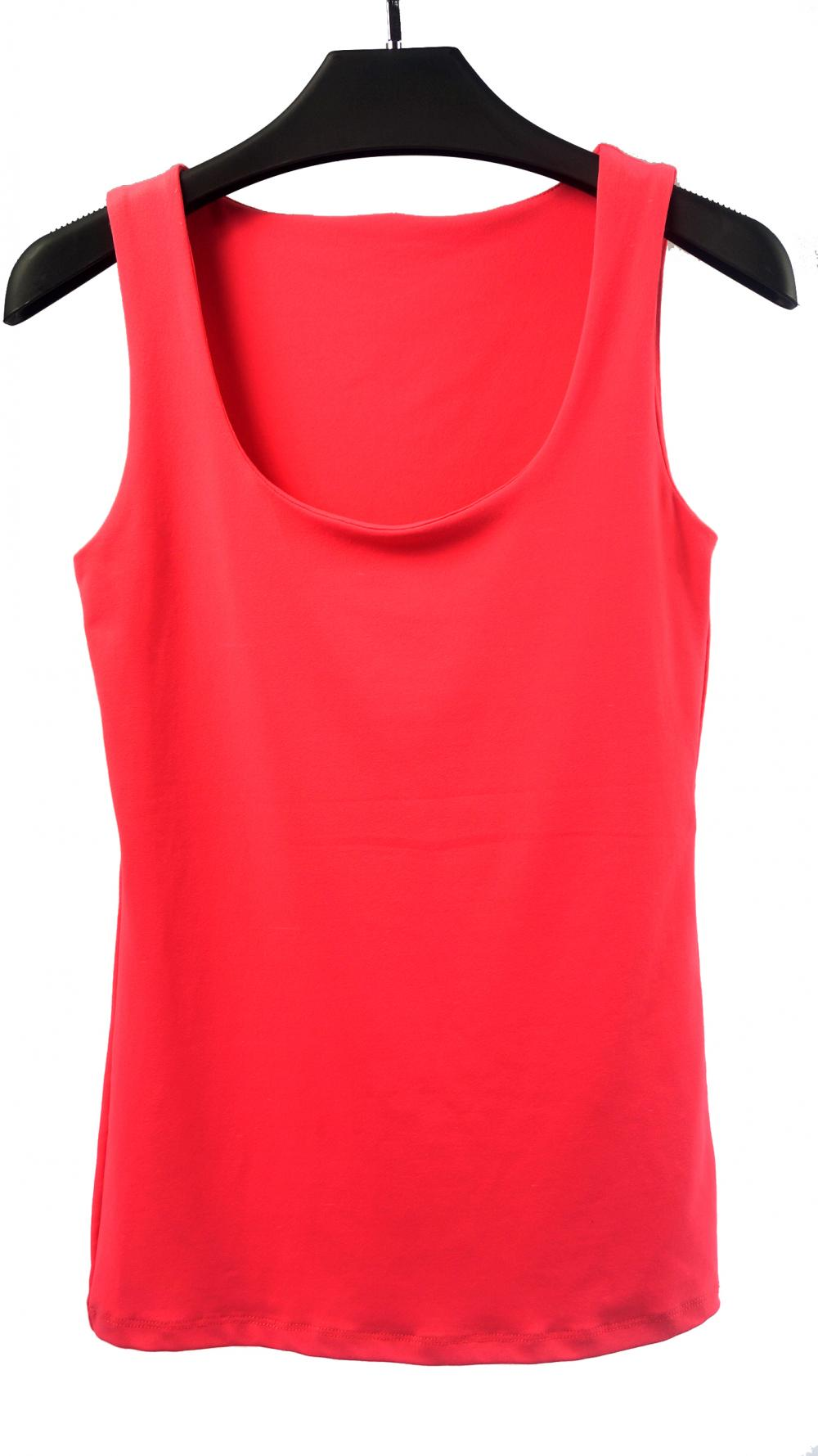 Ladies' Round Neck Tank Top In Solid Color