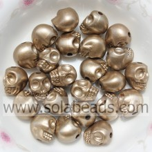 Various Color 8*10MM Skull Bone Plastic Candy Charm Beads