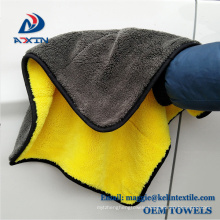China supplier microfiber coral fleece cleaning cloth plush microfiber towel