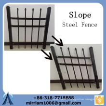 Powder coating 19mm by 19mm pickets metal slope steel fence