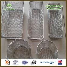 Personalizado cesta de aço inoxidável de malha de arame para cesta de comida / cesta da cozinha