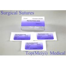 Rapide ácido poliglicólico sutura quirúrgica con aguja