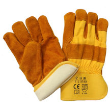 Thinsulate Full Lining Winter Warm Leather Labor Gloves for Riggers