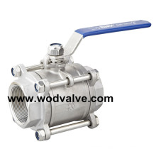 3PC Stainless Steel Soft Seated Ball Valve