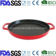 12′′ Enamel Round Cast Iron Skillet Dia: 30cm China Factory