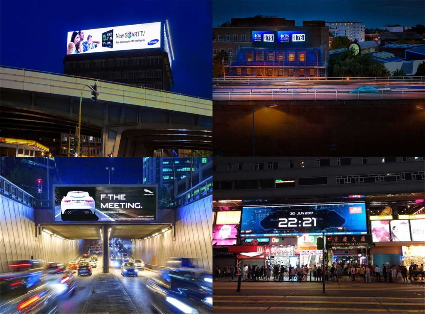 outdoor billboard led videowall for ads