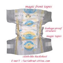 Cloth-Like Breathable Soft Backsheet Baby Nappies
