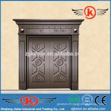 Porte commerciale en bronze JK-C9030, porte extérieure en bronze, porte en bronze