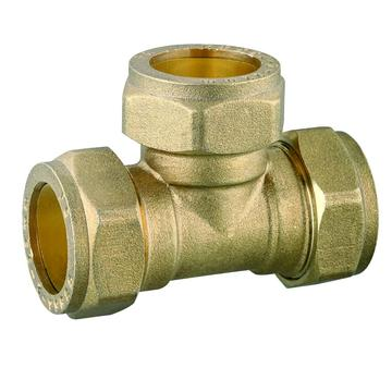 Forged Brass Equal Compression Tee Brass Pipe Fittings