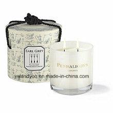 Bougie parfumée élégante de cadeau de soja dans le bocal en verre
