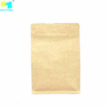 Drug Food Biodegradbal Kraft Paper Resealable Bag