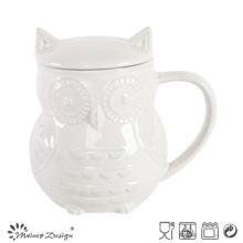 1000ml Ceramic Owl Pot with Lid