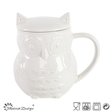 1000ml Ceramic Owl Pot with Lid