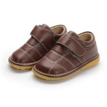 Baby Boy Brown echtes Leder Innere Schuhe 1-2-3y