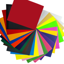 PU Heat Transfer Vinyl 30cm Sheets for Clothing Fabric Factory Direct-prcie 25 Colors Film Colthing Printing Angelacrox Washable