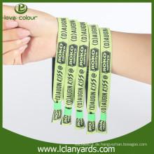 Promotion Stoff Stickerei Sicherheit benutzerdefinierte Armbänder