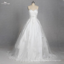 LZ179 Sweetheart Lace Up Wedding Applique Lace Dress Vestido De noiva
