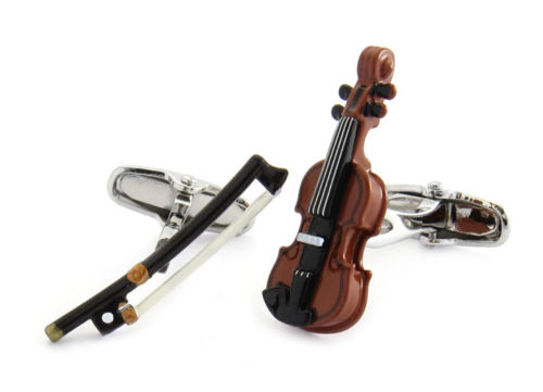 Violin And Bow Cufflinks