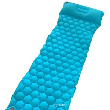 Customized Color Design Laminated Nylon Fabric Camping Hiking TPU Inflatable Traveling Mattress