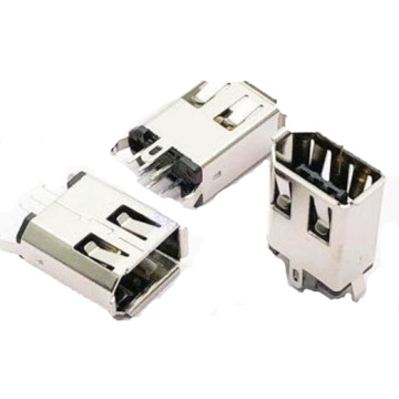 1394 6P Receptacle Straight Soldeer Type