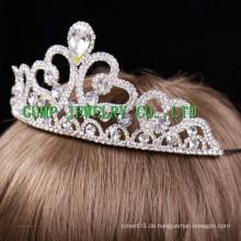 Fancy Haare Zubehör große Strass Kronen Festzug Tiara
