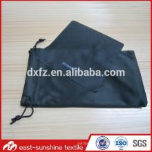 Designer custom logo eyeglasses microfiber cleaning cloth and bag