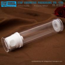ZB-B180 180ml Farbe anpassbare breite Anwendung für Kosmetik klar airless 180ml Flasche