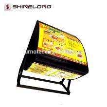 2017 Best Selling Shine Long LED Restaurant Hanging menu board