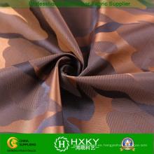100% hilados de polyester teñido de tela con patrón de camuflaje para la chaqueta o zanja