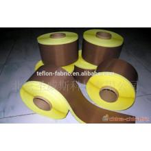 Tela de fibra de vidrio recubierta de teflón de alta calidad con adhesivo con forro