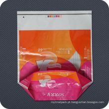 Saco de embalagem de plástico impresso para cuidados pessoais
