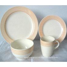 Ручная Роспись Края Керамический Набор Посуды