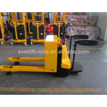 Electric Pallet Truck with Platform Electric Pallet Jacks CE and ISO Certificate