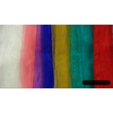 Viste la tela barata de la organza de la chispa de stocklot de la tela de materia textil
