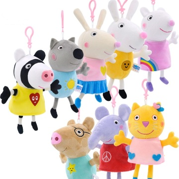 Giocattoli Ricamo Pig Party Friends Animali in cotone morbido