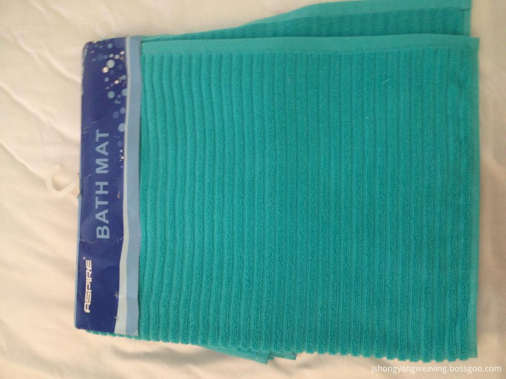 Stripe Solid Color Bath Mat