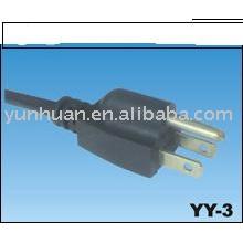 Шнуры питания UL и CSA одобрил привести свободной кабеля сетевой шнур