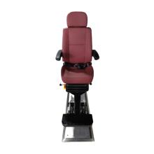 Marine PU surface adjustable captain chair with standard rail, customized pilot chair