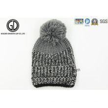 Custom OEM Pompom 100%Acrylic Knitted Beanie, Knitted Hat