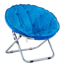 Cadeira de dobradura portátil exterior da lua redonda da espreguiçadeira de Sun do sofá
